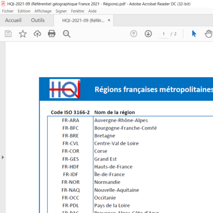 Référentiel géographique France au format PDF